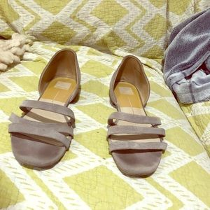 Dolce Vita Gray suede strapped sandals size 11!